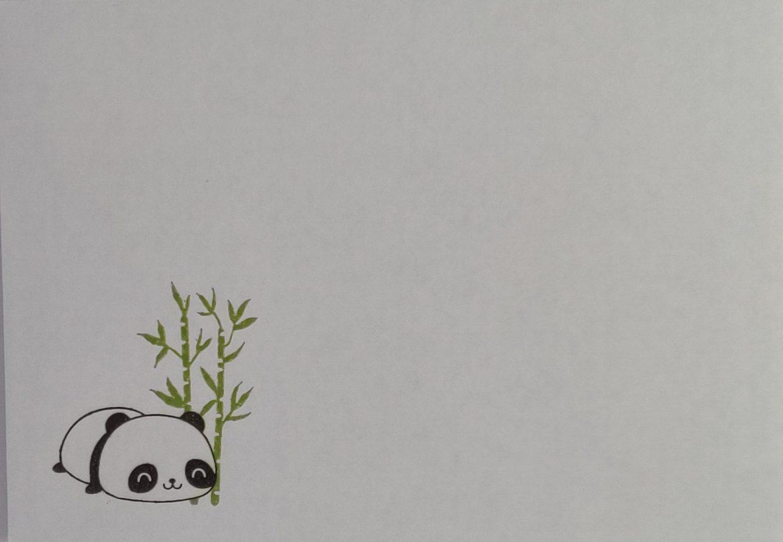 Briefomslag Panda's
