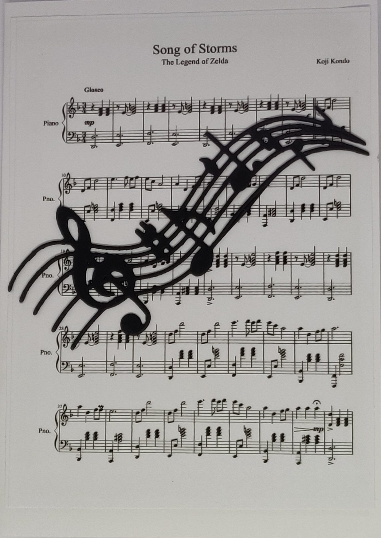 3D piano voorkant