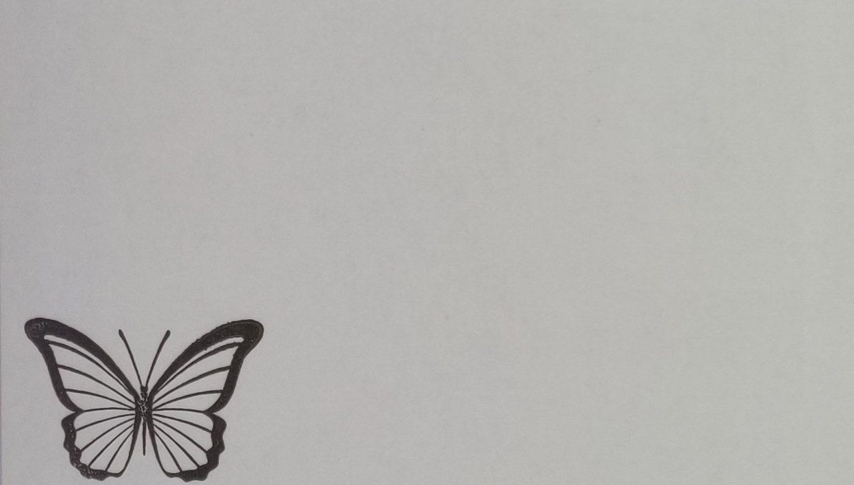Briefomslag Gecondoleerd Vlinder