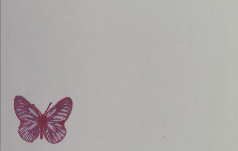 Briefomslag Gelaagde Vlinder