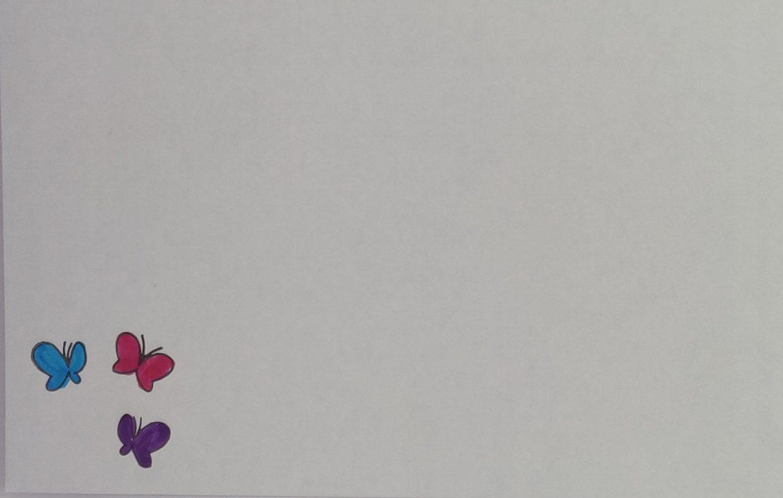 Briefomslag Pop-up Vlinder
