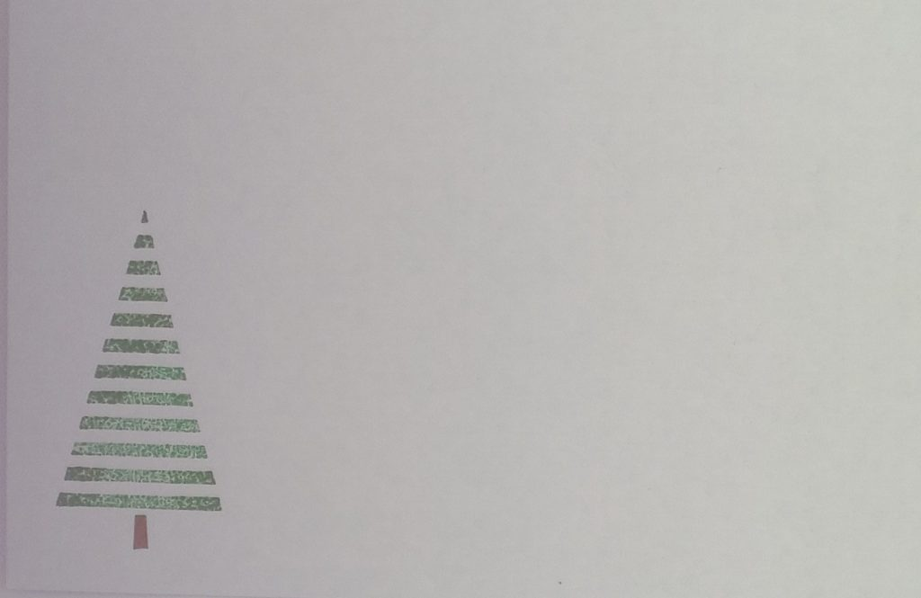 Briefomslag Transparante kerstboom